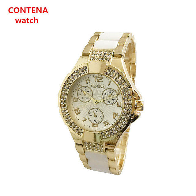 CONTENA Luxury Rhinestone Wrist Watch Women Watches Top Brand