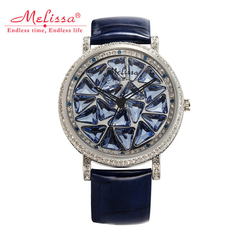 Luxury Rotating Crystal Melissa Lady Women's Watch Rhinestone