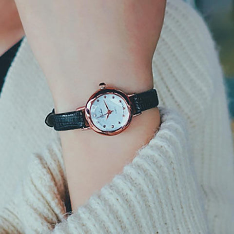 Fashion Women's Watch Quartz Analog Wrist Small Dial Delicate Watch
