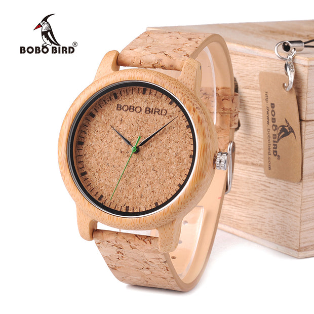 BOBO BIRD WM11M12 Lovers Casual Quartz Watches for Men Natural