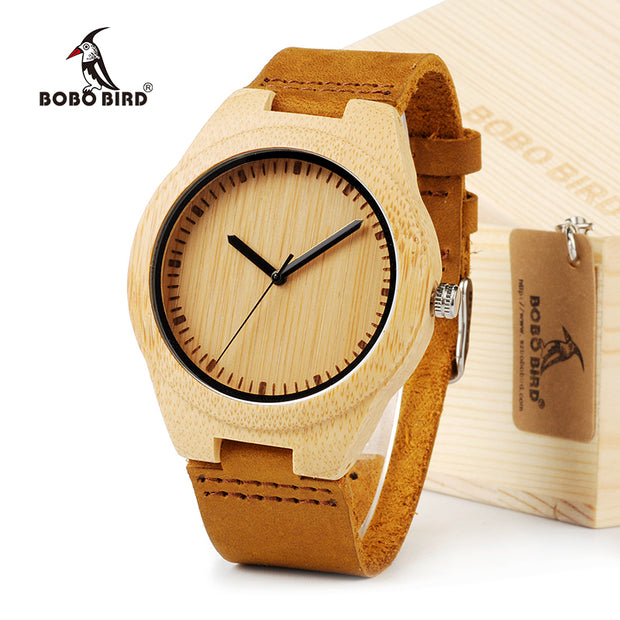 BOBO BIRD Lovers' Dress Wooden Watches Natural Wood Handmade Cool