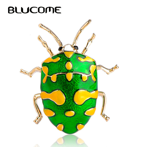 Blucome Vivid Yellow Spot Insect Brooch Kids Girls Clothes