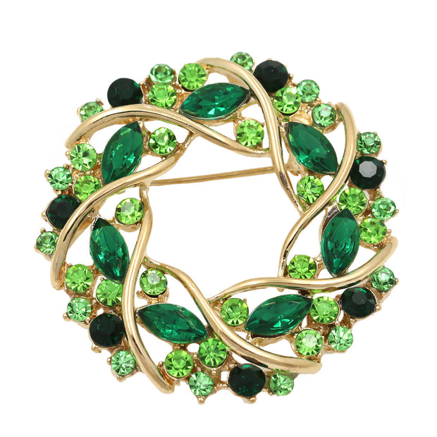 Factory Direct Sale Women Crystal Rhinestone Garland Brooch In 5