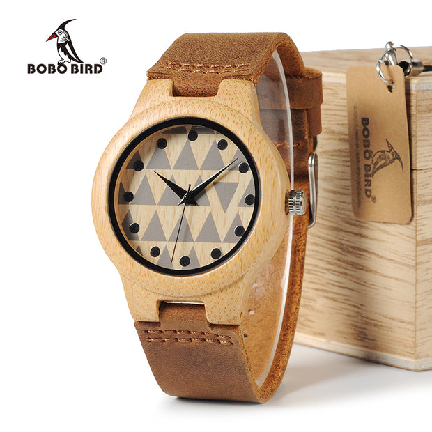 BOBO BIRD WA33A34 Lovers Design Brand Wooden Bamboo Watches With