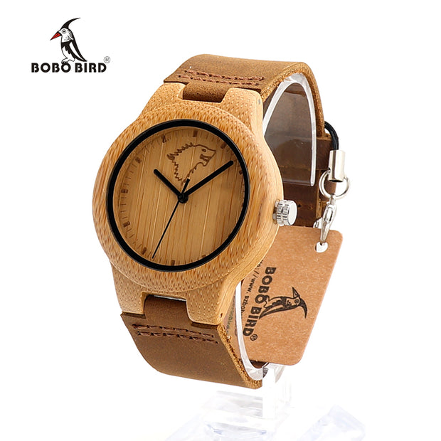 BOBO BIRD Hot Sale lovers' Bamboo High Quality Watches Engraved Wolf