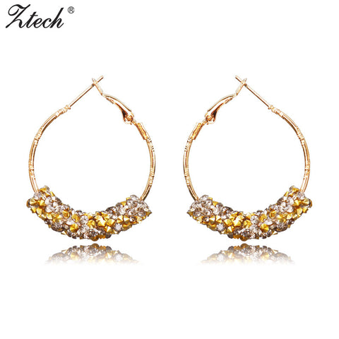 Ztech Personality Super Big Circles Hoop Earrings For Women Fashion 6 colors Jewelry Bijoux Trendy Statement Earrings