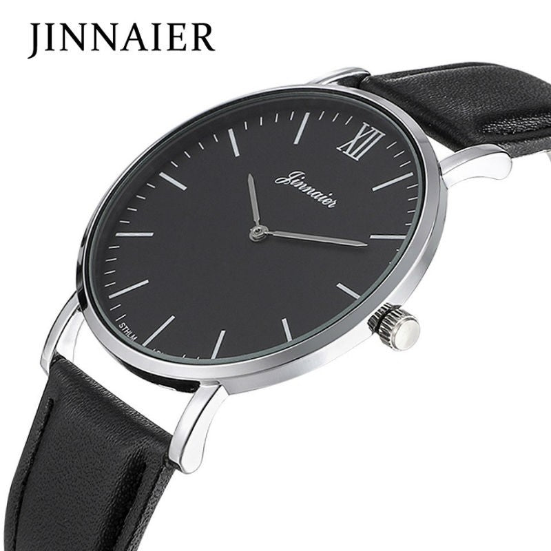 Men's Watches Woman Luxury Brand Ultra Slim Leather Dial Casual Sports