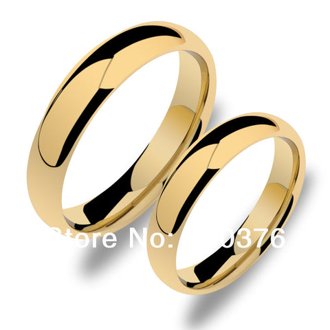 Hot Gold Plated 5mm/3.5mm Tungsten Carbide Ring, Comfort Fit Jewelry For Men, Wedding Bands,can engraving(price is for one ring)
