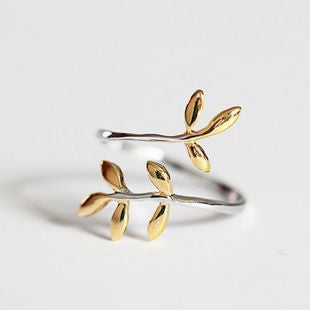 Summer Jewelry 925 Sterling Silver Rings For Women Lovely Branch