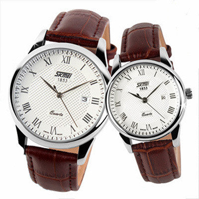 Couple Wristwatches Women Men Leather Strap Watches Lovers Girl Fashion Casual Ladies Quartz Luxury Brand Relogios Femininos