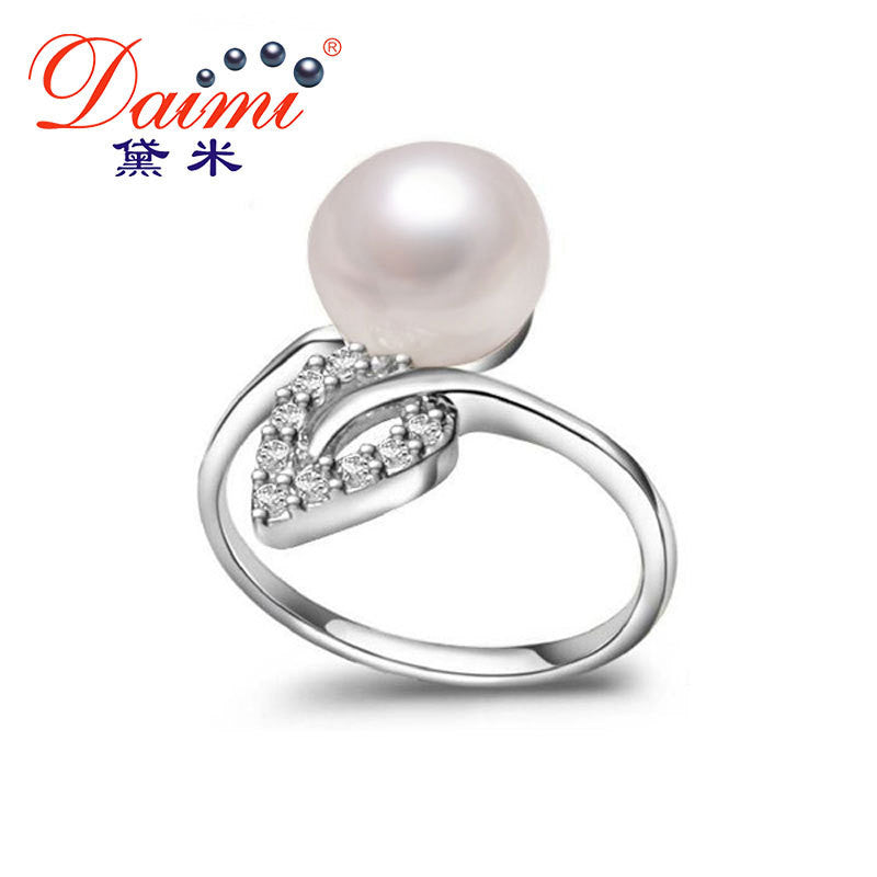 [Daimi] Career Ring Adjustable Flame Leaf  Rings Genuine Freshwater