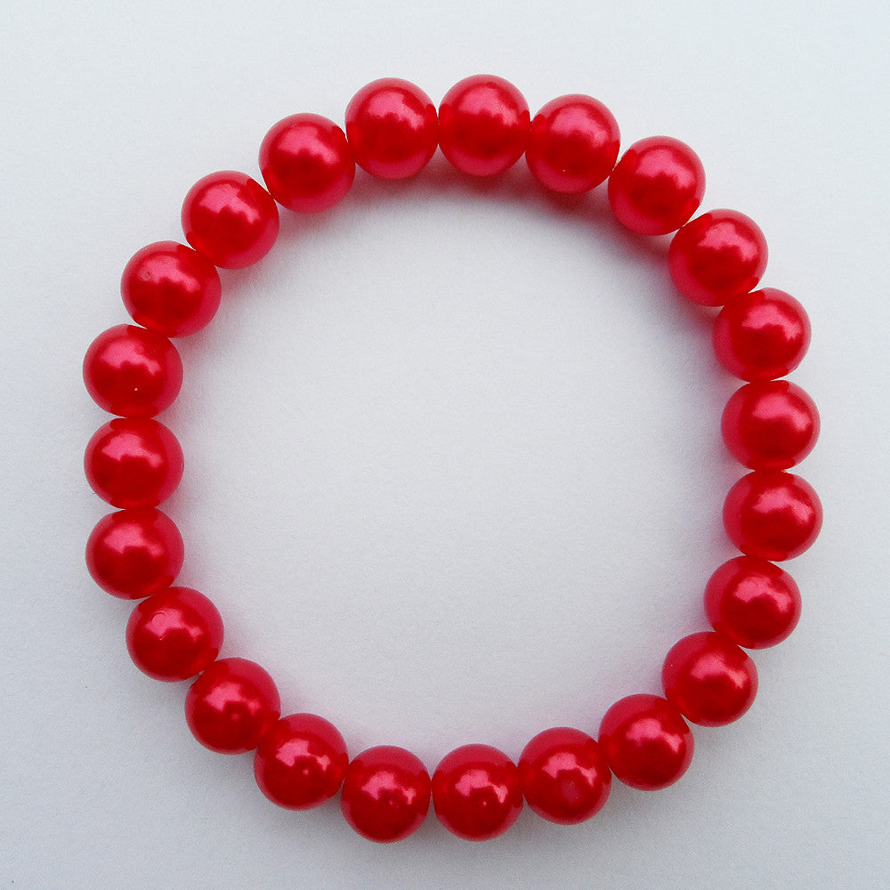 {2016 fashion red pearl bracelet,fine quality sexy pearl red