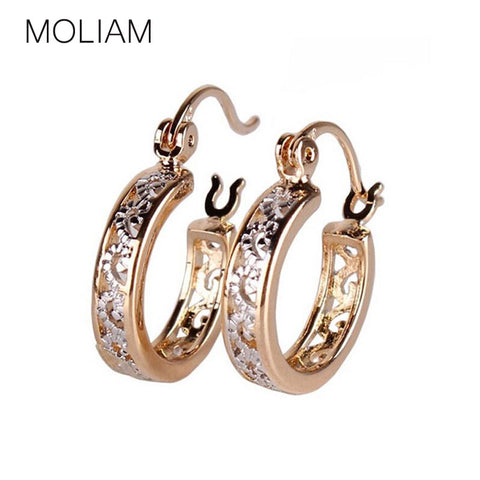 MOLIAM Small Earrings 2016 Fashion Classic Hollow Out Hoop Earring For Women High Quality Brinco Earings Ladies Jewellery E400