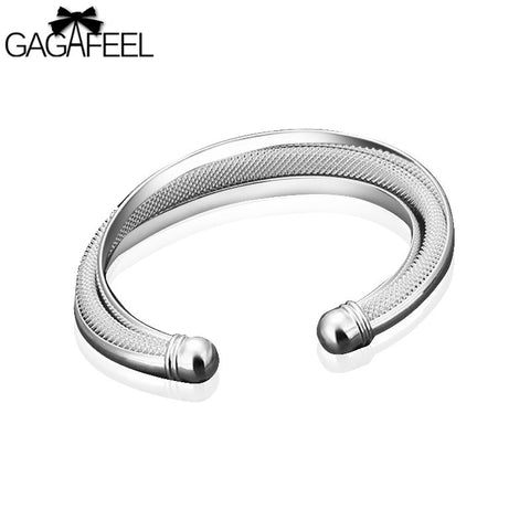 Hot sale Free Shipping Wholesale Fashion Women Female Jewelry Elegant silver Bangles Cuff Bracelets High Quality Gifts LB36