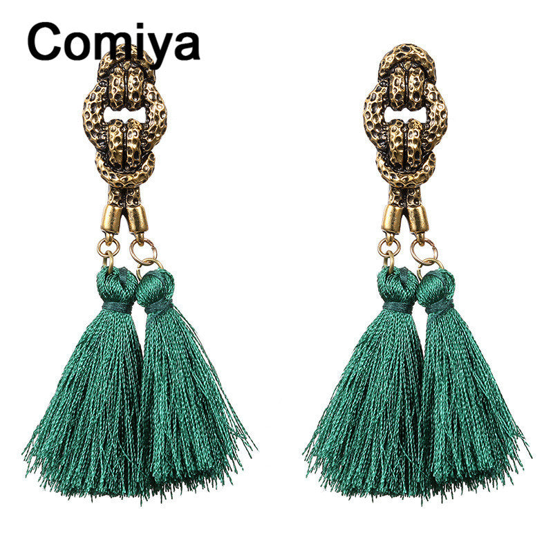 Comiya fashion anti gold plating zinc alloy charm thread tassel