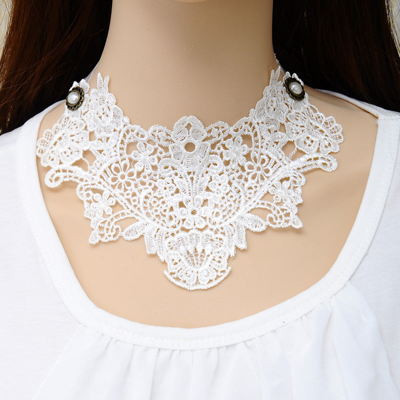 Hot Sale Choker Necklaces Women Nice Neon Color Lace Necklace False