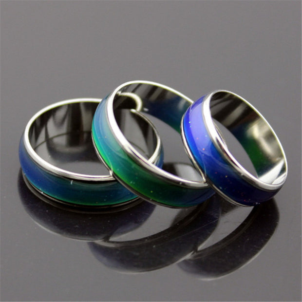 Creative Color Changeable Ring Temperature Emotion Feeling Mood