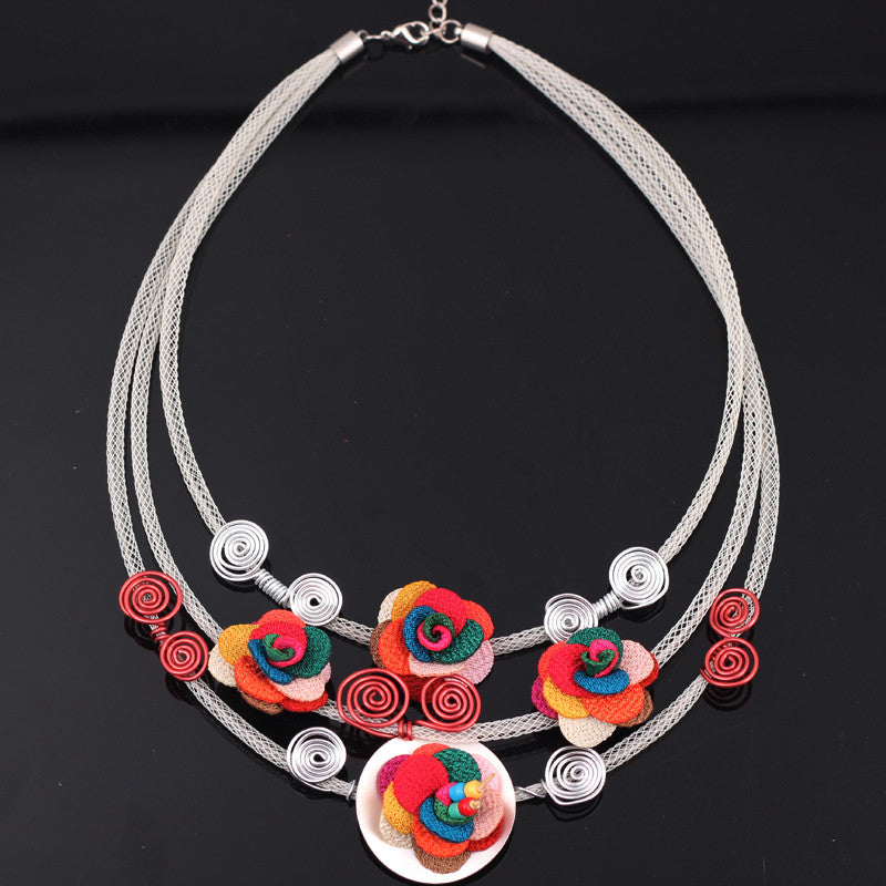 collar necklace  flowers chocker pendant lovely accessories new 2015