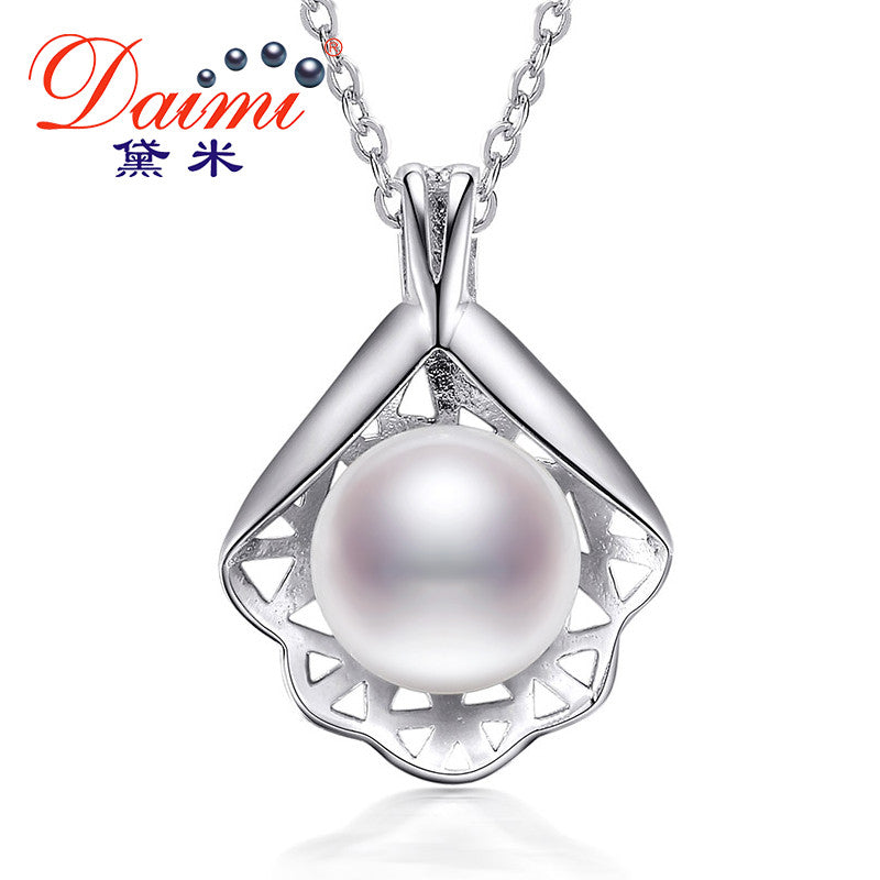 DAIMI Unique Mother Of Pearl Style Natural Freshwater Pearl Pendant