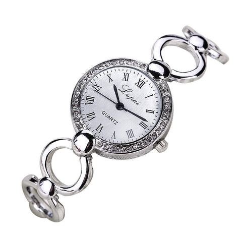 Hot Brand New Silver Watch Fashion Casual Women's Watch Stainless