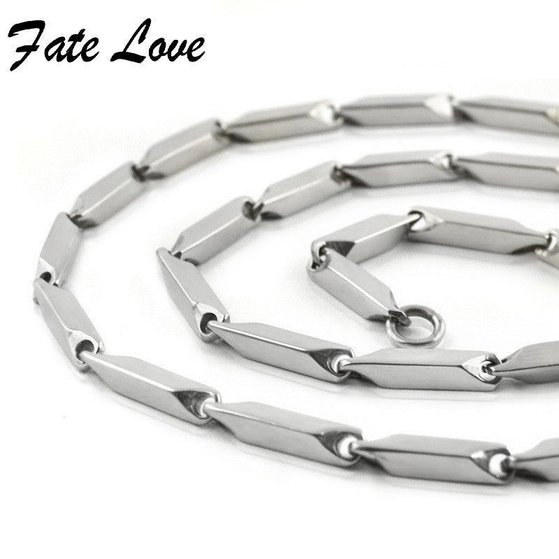Classic 316L Stainless Steel Necklace for Women Men Chain Necklace
