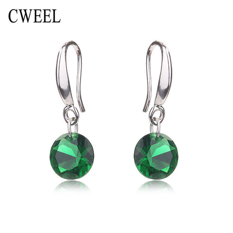 CWEEL Imitated Crystal Stud Earrings Women Wedding For Teen Girls Bridal Party Holiday Fashion Earring Accessories Jewellery