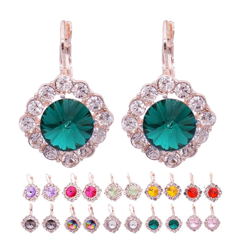 Crystal Stud Earrings For Women Brincos Big Rhinestone Earrings For Girls