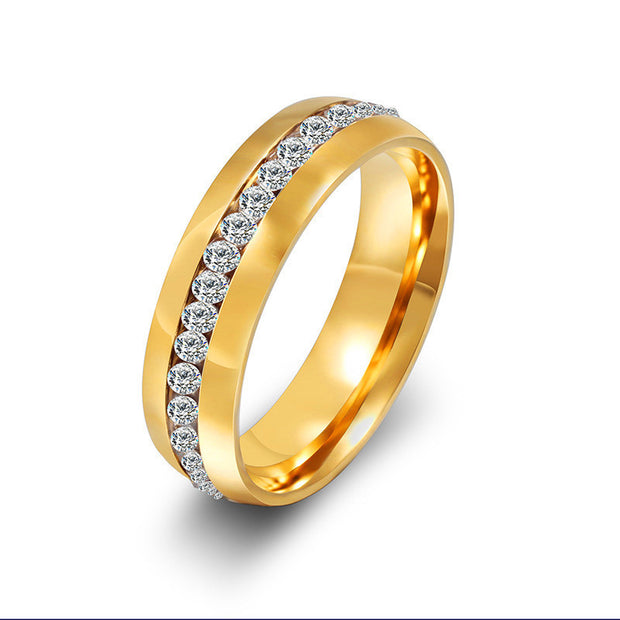 Size 4-15 Silver Gold Titanium Steel Wedding Rings For Men And Women