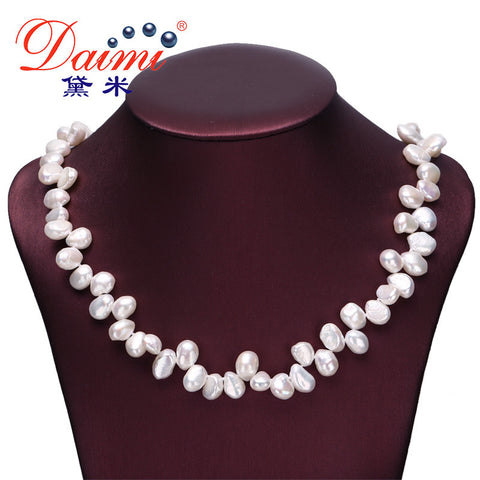 DAIMI Natural Baroque Pearl Necklace Style 7-8 mm Choker Necklaces Bridesmaid Necklace Free Shipping