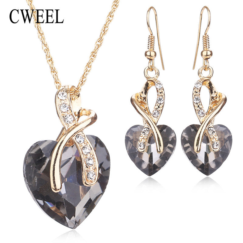 CWEEL Women Wedding Accessories African Beads Jewelry Sets Costume