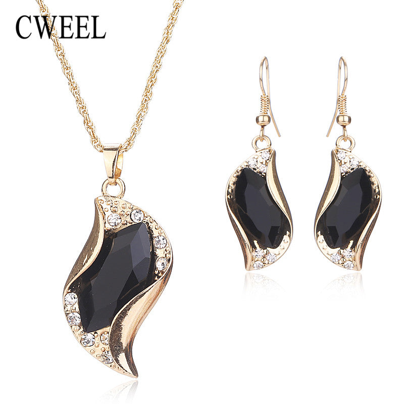 CWEEL New African Beads Jewelry Sets For Women Accessories Wedding