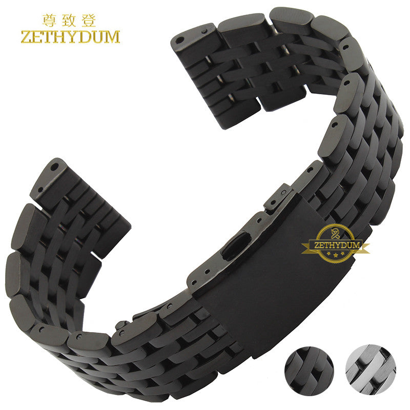Stainless steel bracelet solid metal watchband watch strap 24 26 28
