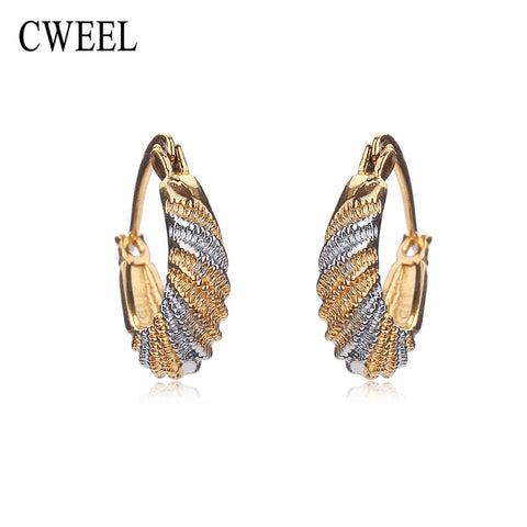 CWEEL Stud Earrings For Women Austrian Mix Color Gold Plated Men New Wedding Fashion Bridal Party Accessories