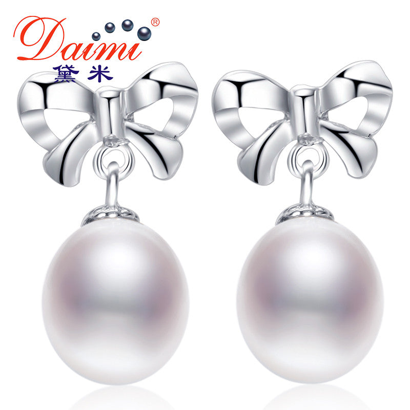 Daimi Cultured Pearl Earrings, 100% Genuine Brand Pearl Jewelry 9MM