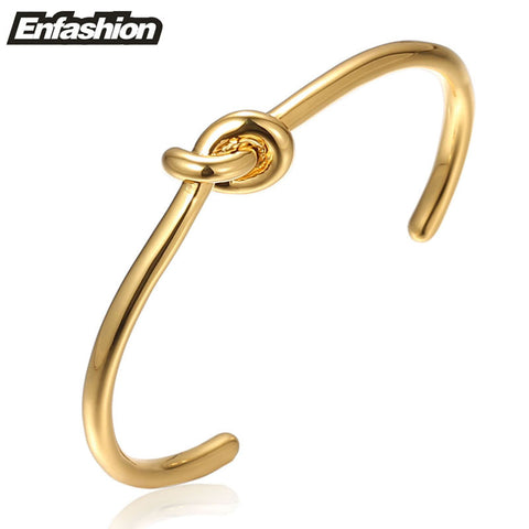 Enfashion Wholesale Knot Cuff Bracelet Manchette Rose Gold Plated Bangle Bracelet For Women Bracelets Bangles Pulseiras