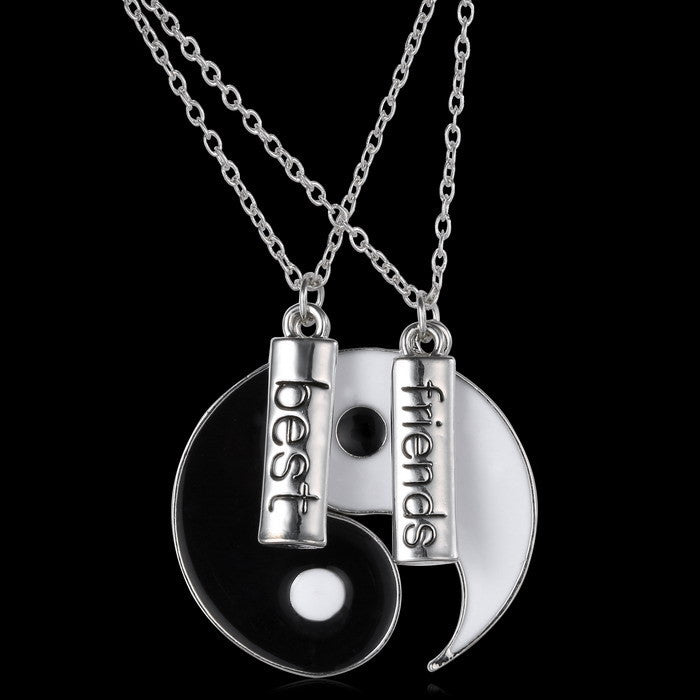 couple Jewelry Personalized Yin Yang necklace broken necklace best