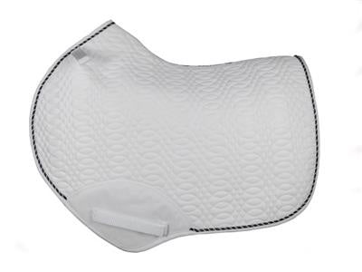 Kieffer Jumping Saddle Pad White-Blk & Wh Cord
