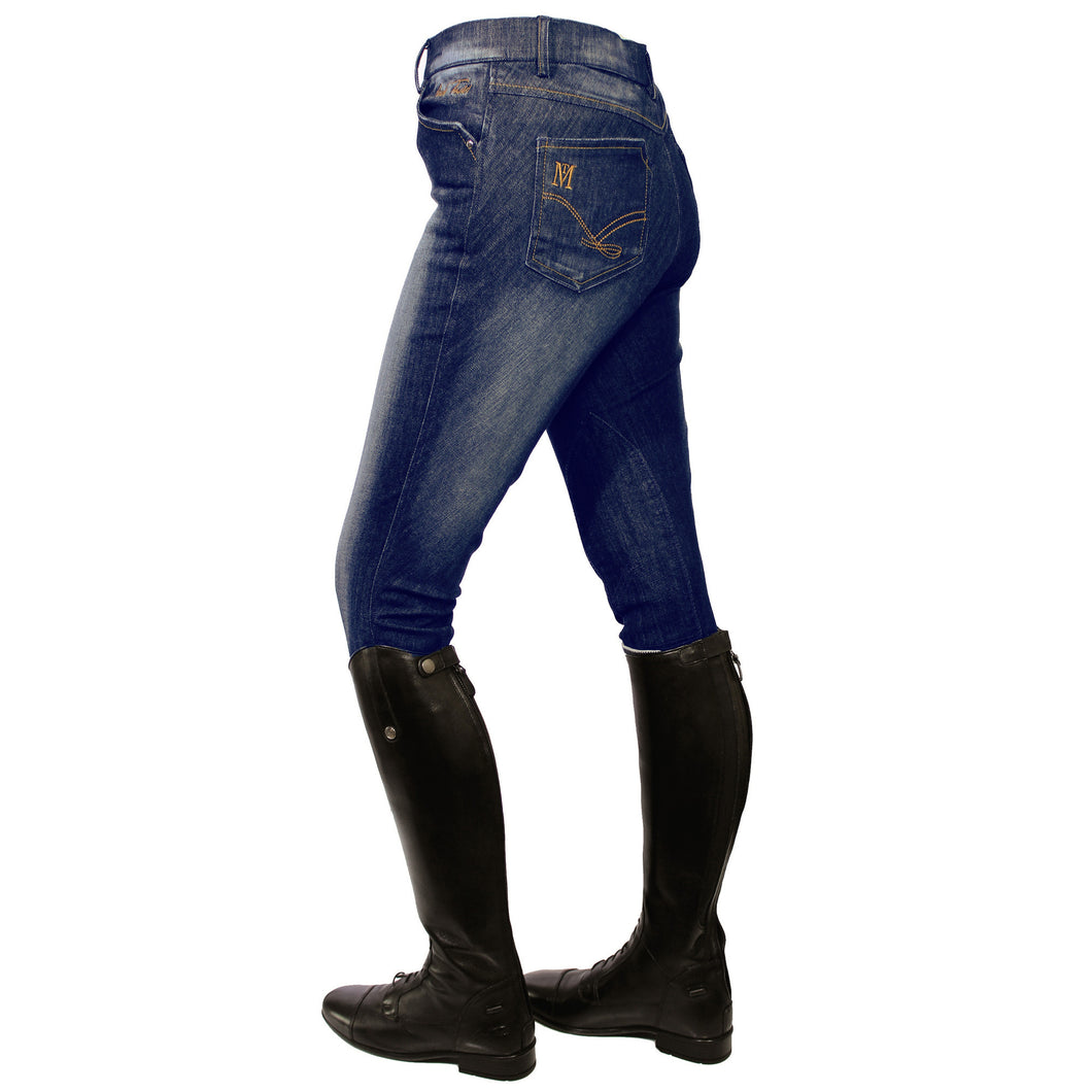 Mark Todd Ladies Dark Denim Breeches
