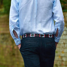 Pioneros Belt Navy, Pale Blue, Red Stripe 186
