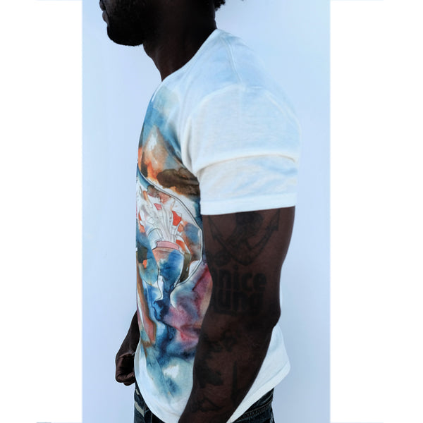 The Easel Palette watercolor natural body t-shirt