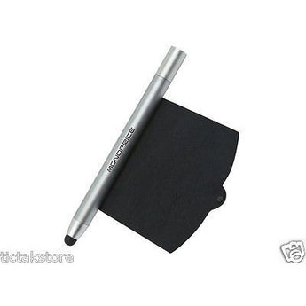 Monoprice Stylus with Retractable Screen Cleaner Tablets and Smartphones Silver - AMPLE OUTLET