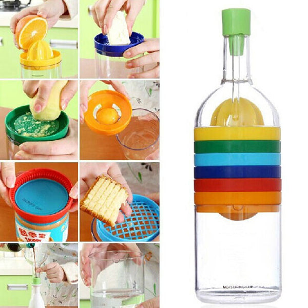 Multi Functional 8 in 1 Set Multipurpose Bottle