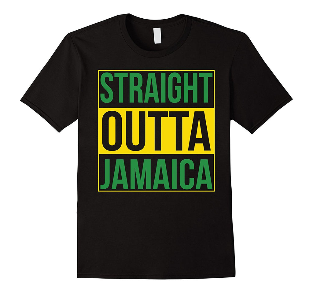 Straight Outta Jamaica flag Patriotic Gift Cool Proud Shirt
