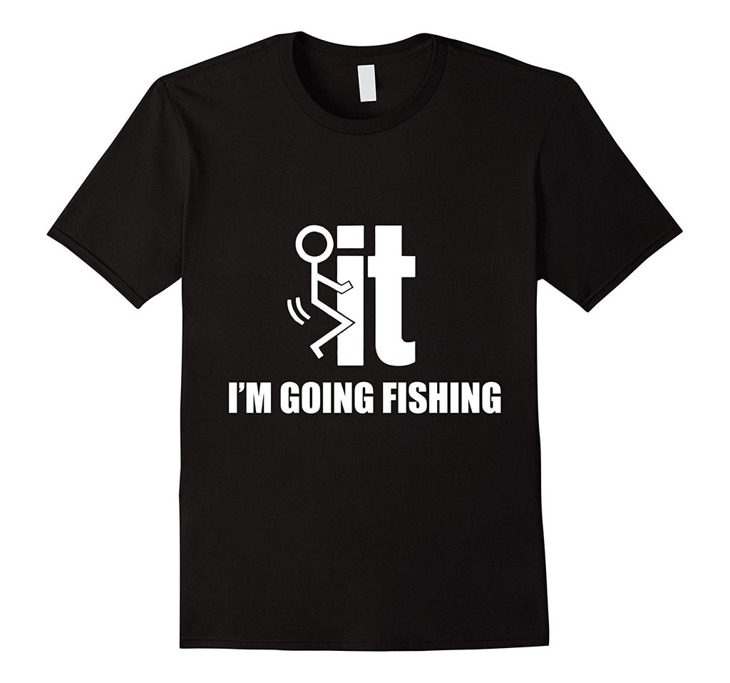 Men's 'Screw It I'm Going Fishing' Cotton T-Shirt