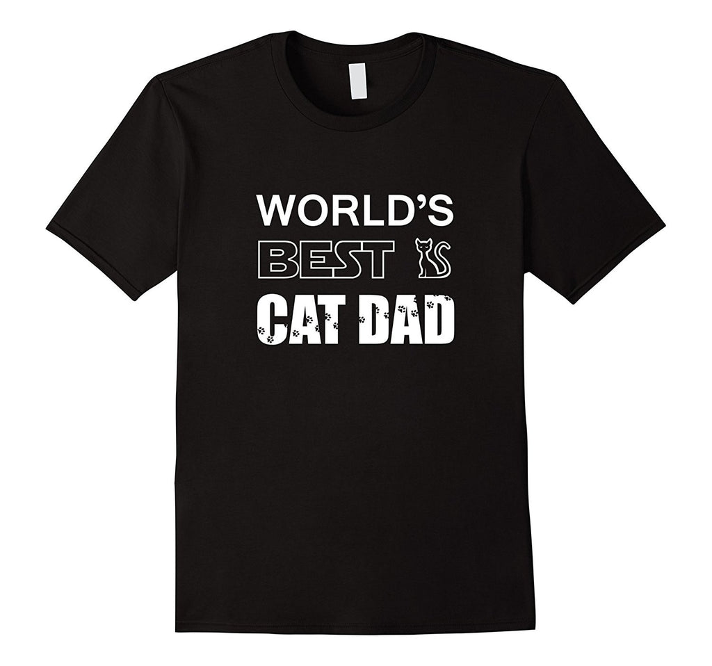 Men's World's Best Cat Dad - Pet Lovers Father's Day Gift T-Shirt