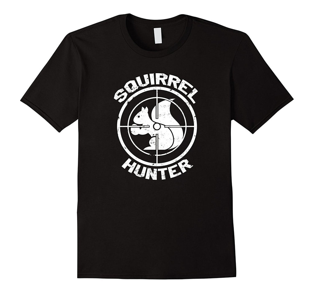 Funny Squirrel Hunter T-shirt- Shooting Hunting- Zany Brainy
