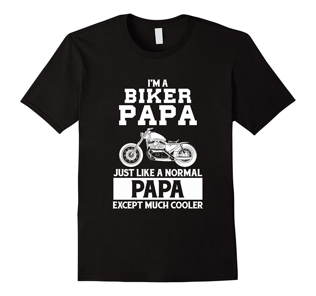 Mens Funny Im Biker Grandpa Just Like A Normal Grandpa T-shirt