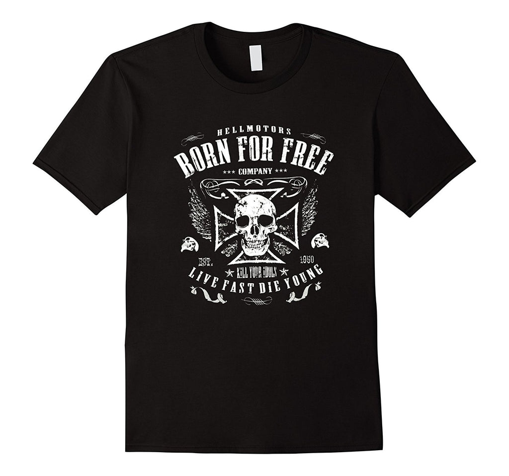 Chopper Biker T-Shirt SKULL Rocker Hot Rod V8 US Muscle Car