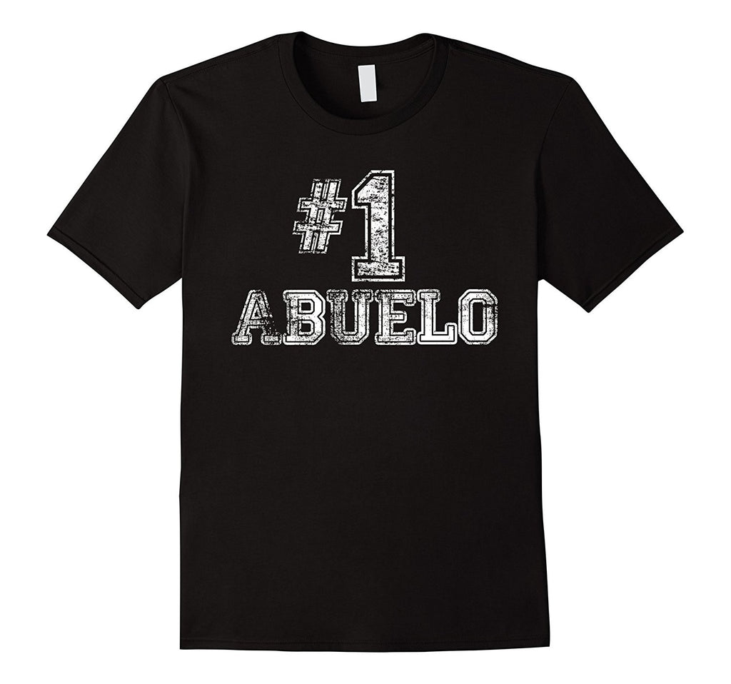 Mens #1 Abuelo T Shirt - Number One Fathers Day Gift Tee