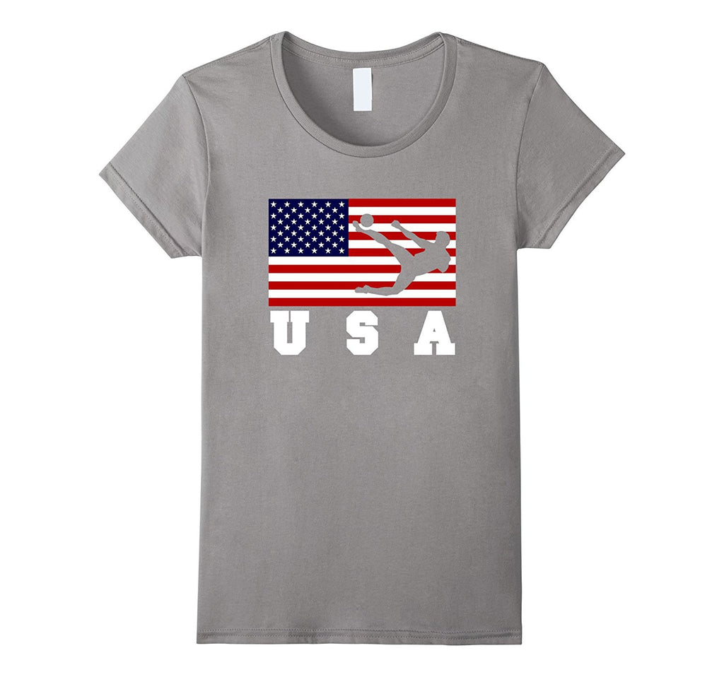 American Flag Soccer Shirt- USA Gift- Soccer Football Team